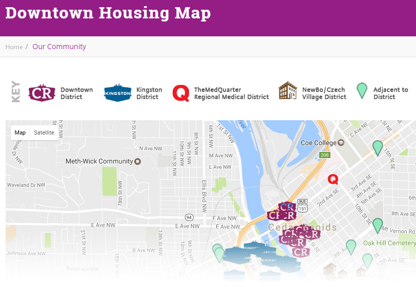 Downtown Housing Map
