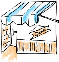 Store front drawing
