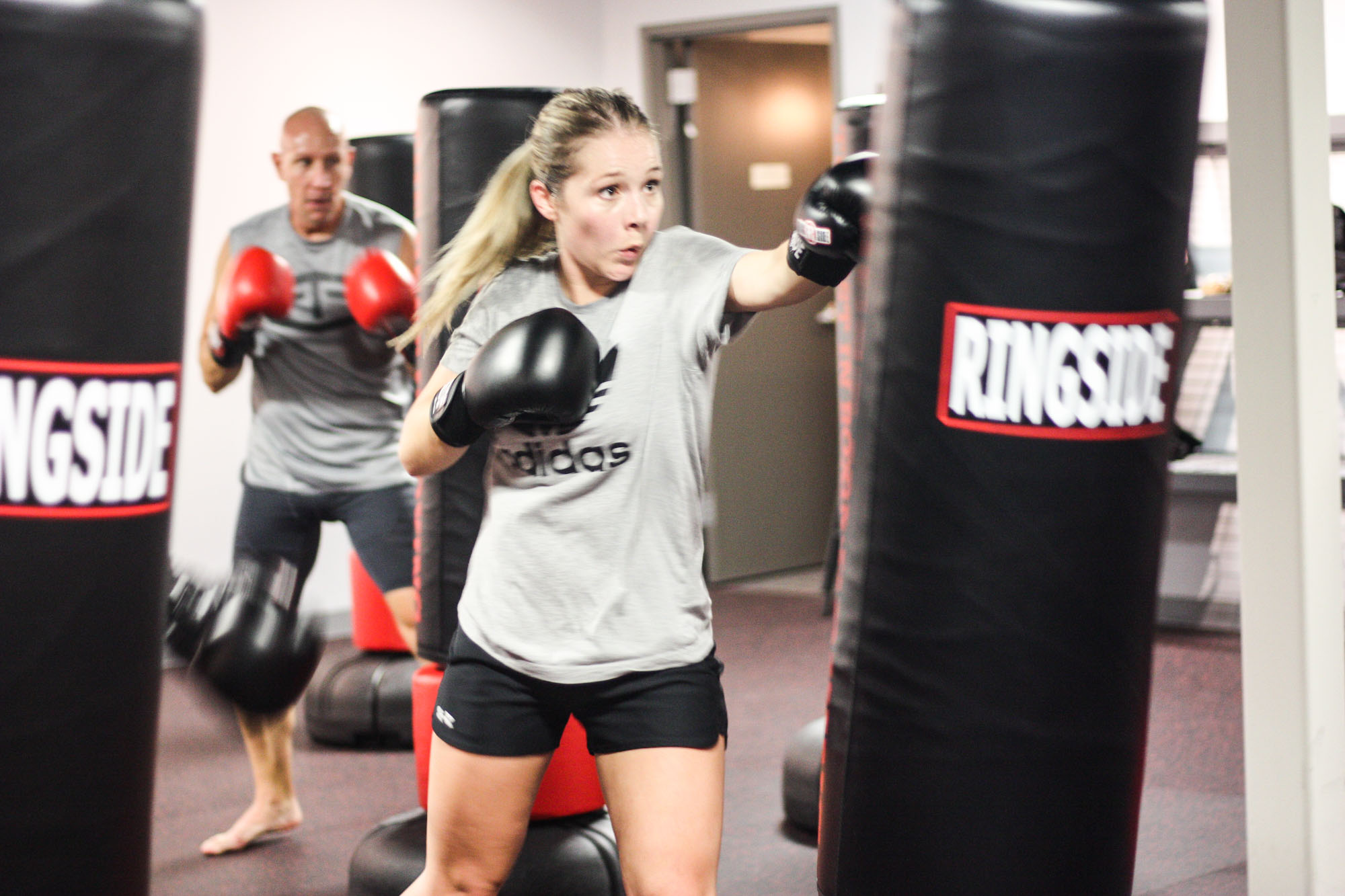 Kickboxers at There's No Quit! Kickboxing and Self Defense Studio in Marion, Iowa