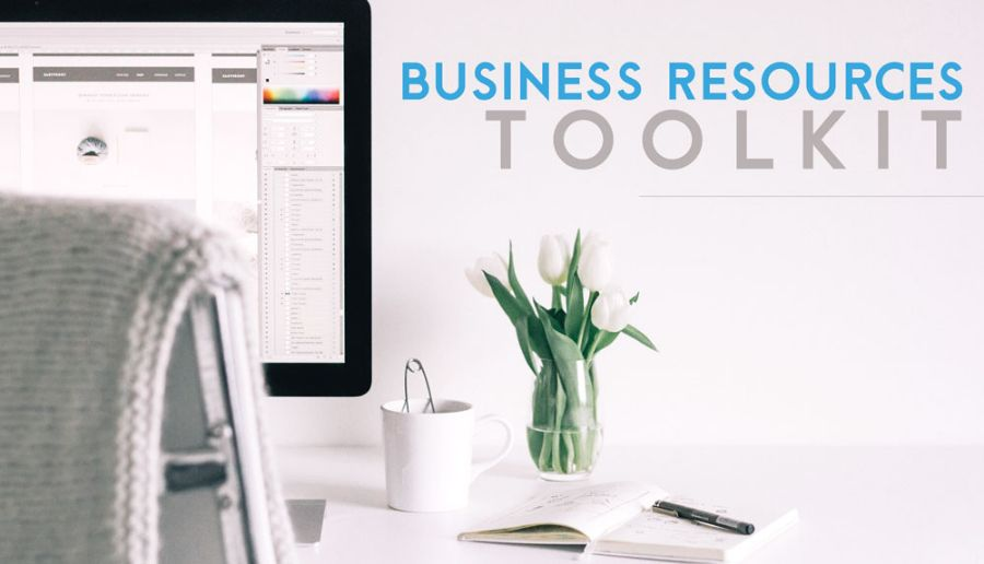 Business Resource Toolkit on home office computer