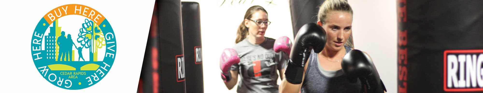 There's No Quit! Kickboxing Studio participants