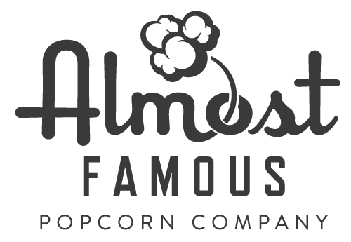 Almost Famous Popcorn Company Logo